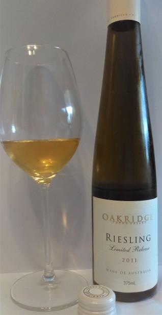 2011 oakridge botrytis riesling